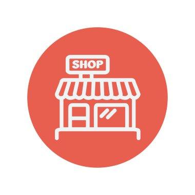 Shop store thin line icon