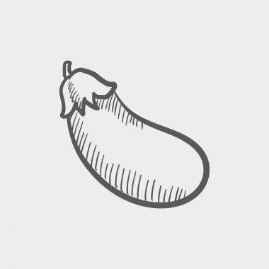 Eggplant sketch icon