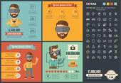 Virtuální realita plochý design Infographic šablony