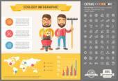 Ökologie flaches Design Infografik-Vorlage