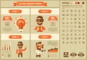 Virtuális valóság lapos Infographic tervezősablon