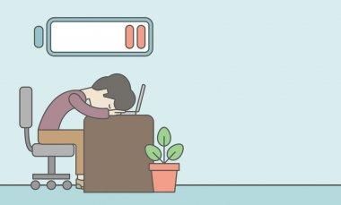 Tired employee.