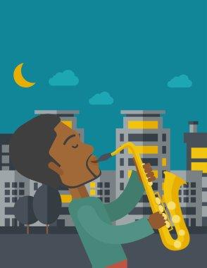 Saxophonist.