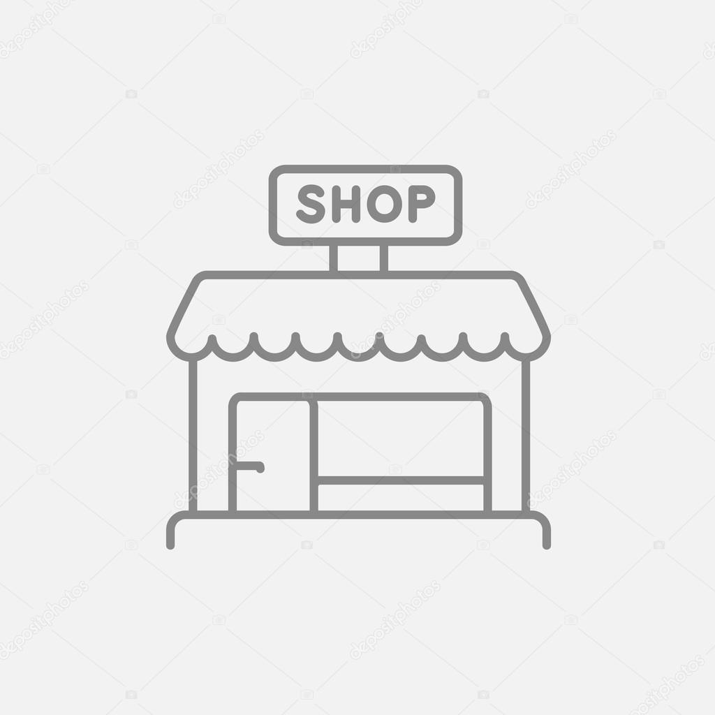 Shop store line icon.