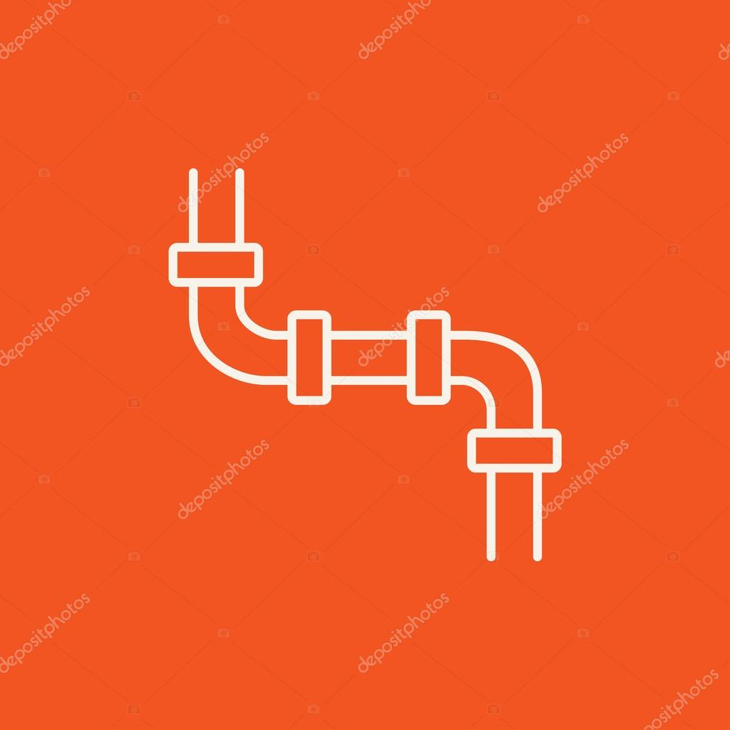 Wasser Rohrleitung Symbol — Stockvektor © rastudio #93012100