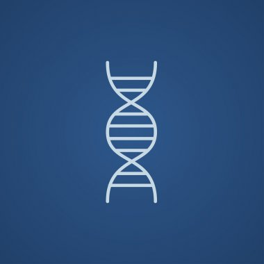DNA line icon.