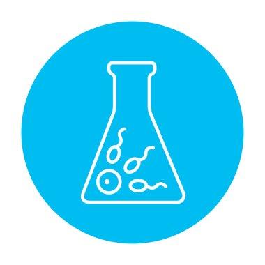 In vitro fertilisation line icon.