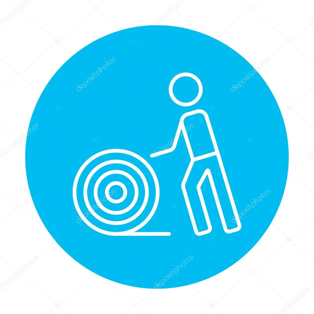 Mann mit Draht Spule Symbol — Stockvektor © rastudio #94384198