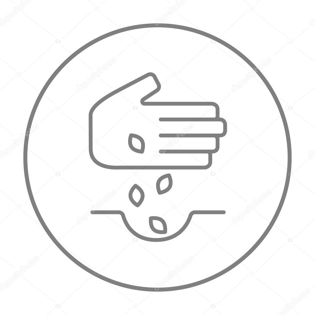 Hand, die Saat im Boden Symbol — Stockvektor © rastudio #97363872