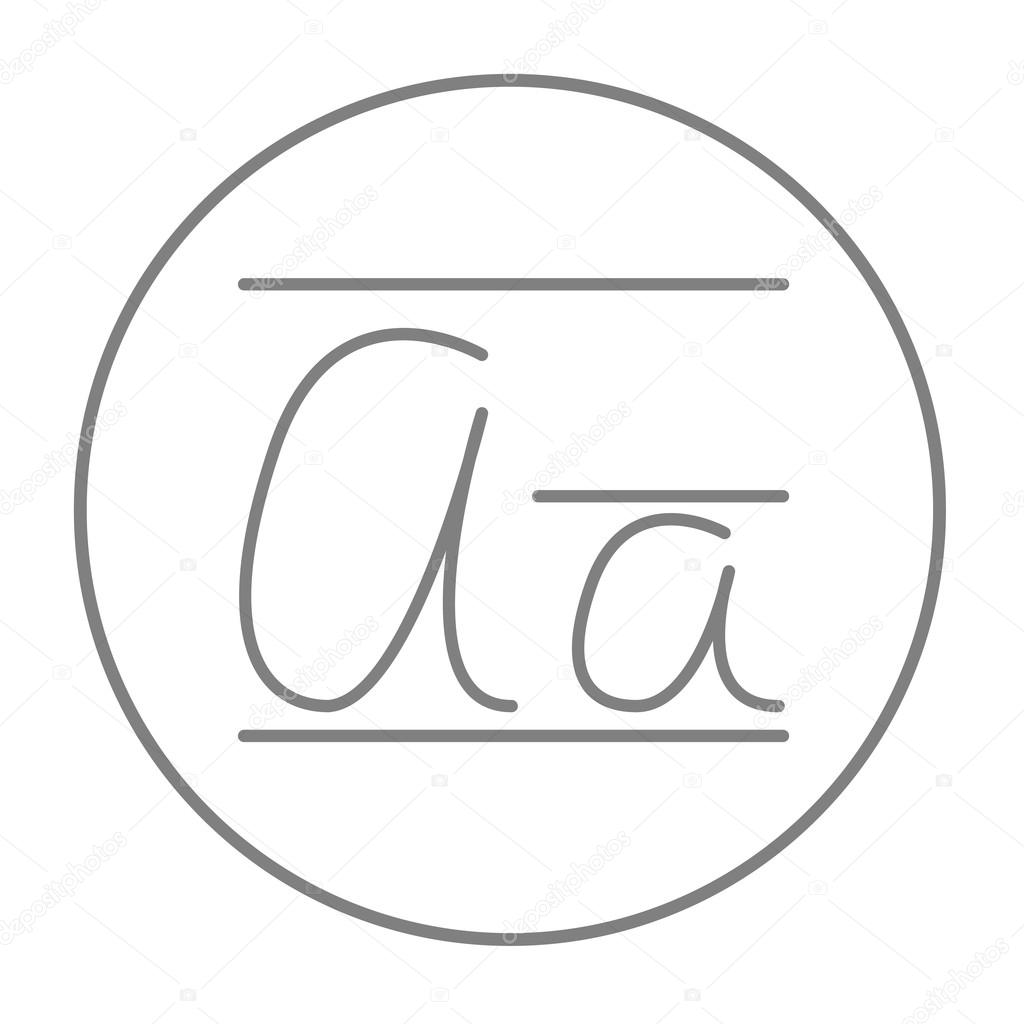 Cursive letter a line icon stock vector rastudio 97370174 cursive letter a line icon for web mobile and infographics vector grey thin line icon in the circle isolated on white background vector by rastudio biocorpaavc Image collections