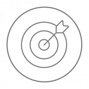 Target board and arrow line icon.
