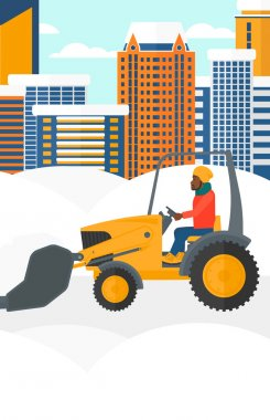 Man plowing snow.