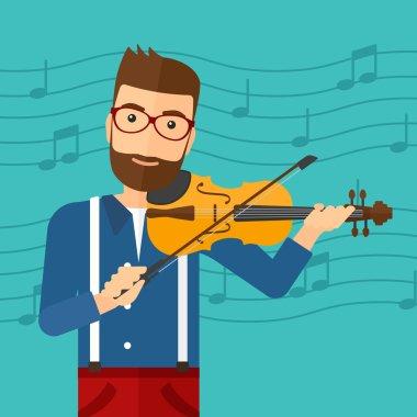 Man playing violin.