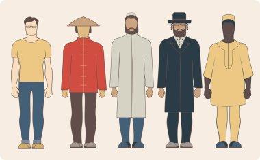 Different national men