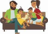 Mladá rodina s dětmi