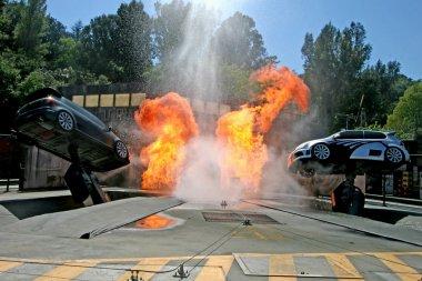 Universal Studios Tram Tour Stunt Cars