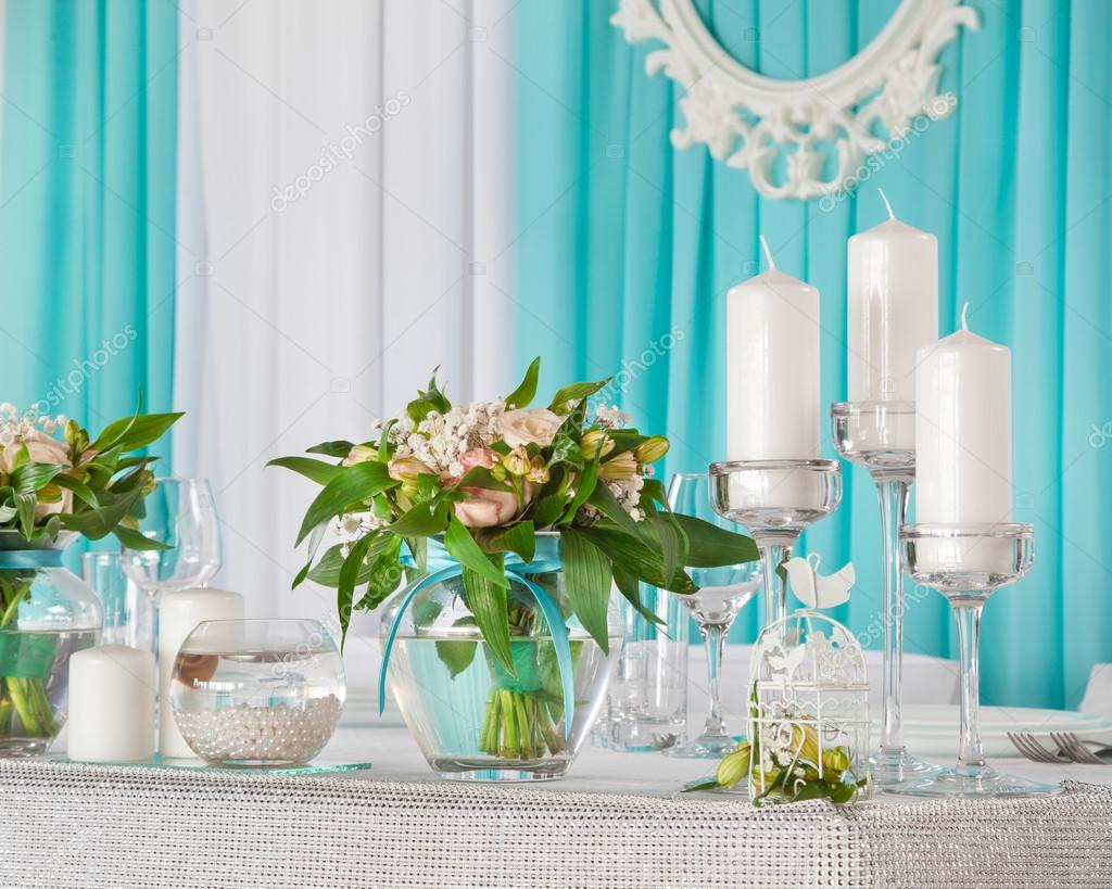 Bride Groom Table Decoration Beautiful Decorations On Wedding Table For Bride And Groom