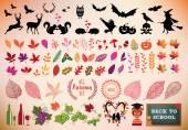 Fényképek Őszi ikon készlet, vector design elemek