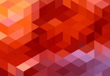 abstract red geometric background, vector