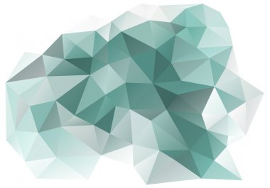 abstract teal and grey low poly background, vector