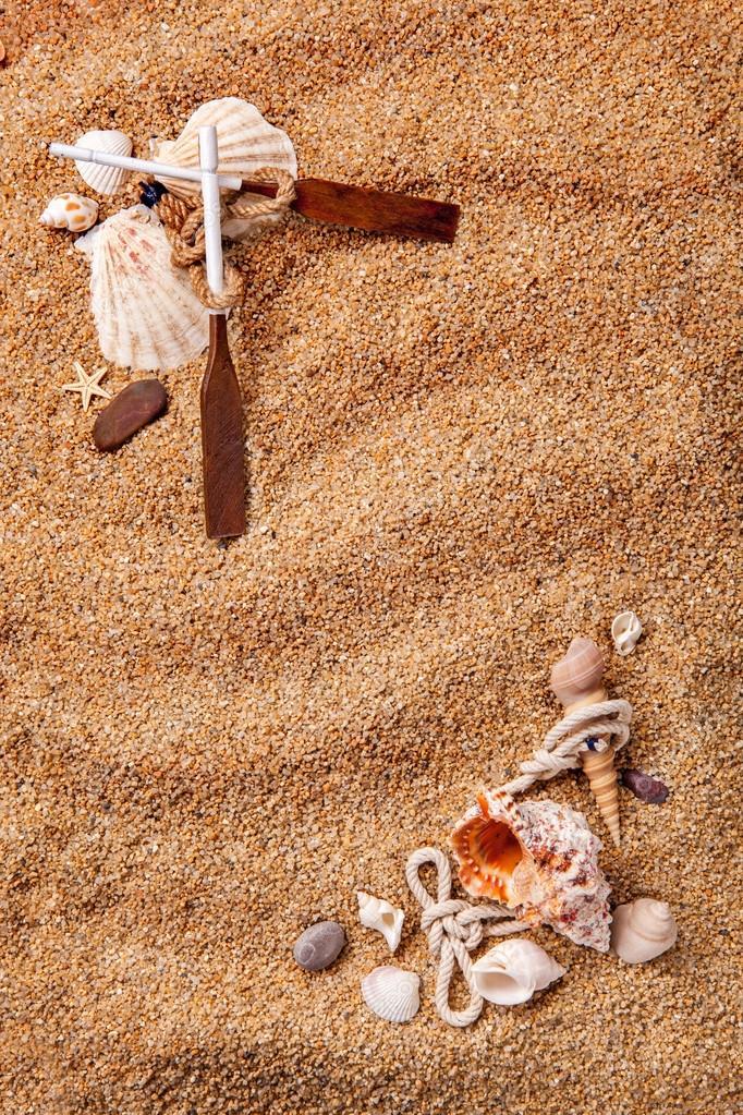marco de varios proyectiles en la arena — Foto de stock © artjazz ...