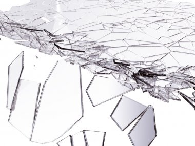 Splitted or cracked glass