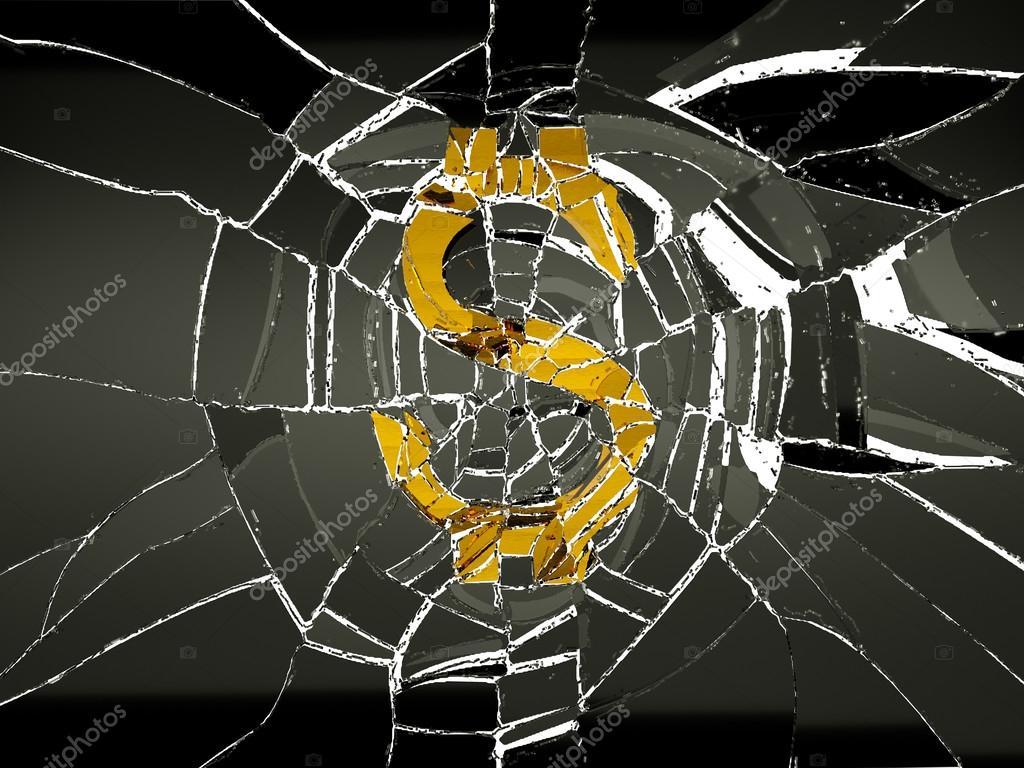 Broken Us Dollar Symbol Stock Photo Arsgera 52893595