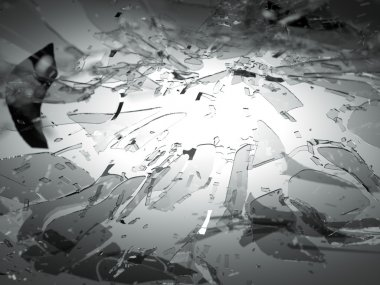 Broken or Shattered glass