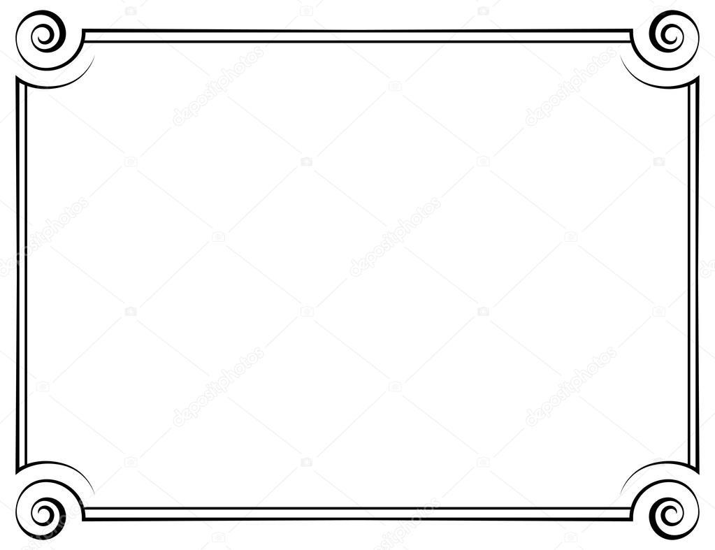 marco horizontal Vector — Vector de stock © pzRomashka #56463951