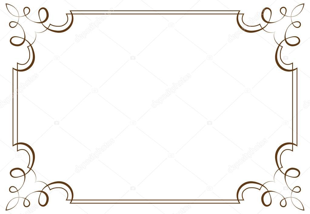 marco horizontal del vector. Elemento para el diseño — Archivo ...
