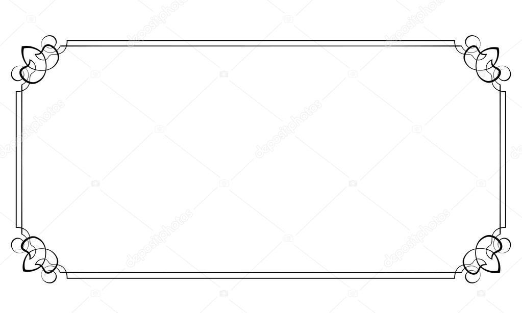 marco horizontal del vector. Elemento para el diseño — Vector de ...