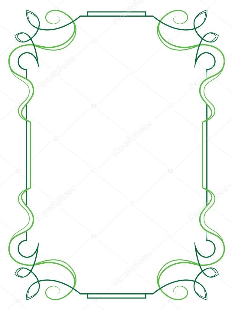 Elegante marco vertical sobre un fondo blanco — Archivo Imágenes ...