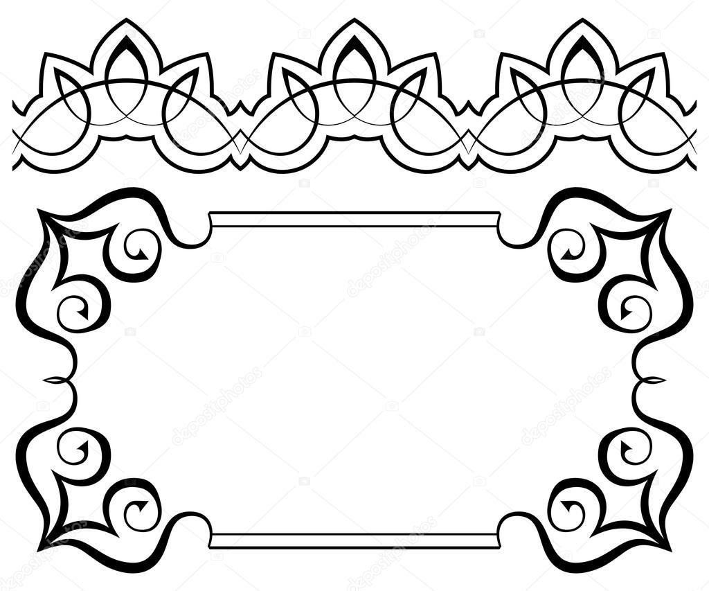 conjunto de Marcos y bordes. Elementos para el diseño — Vector de ...