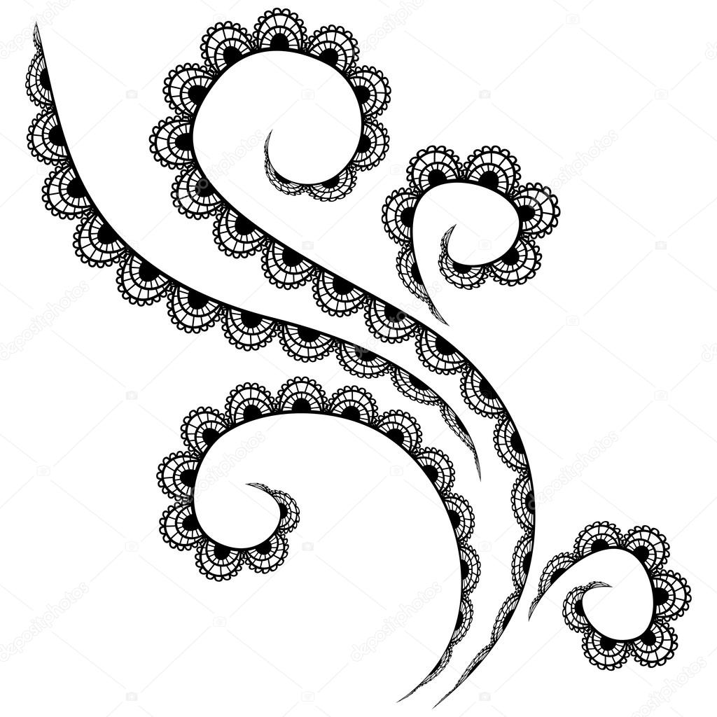 vector lace pattern on a white background stock vector rh depositphotos com
