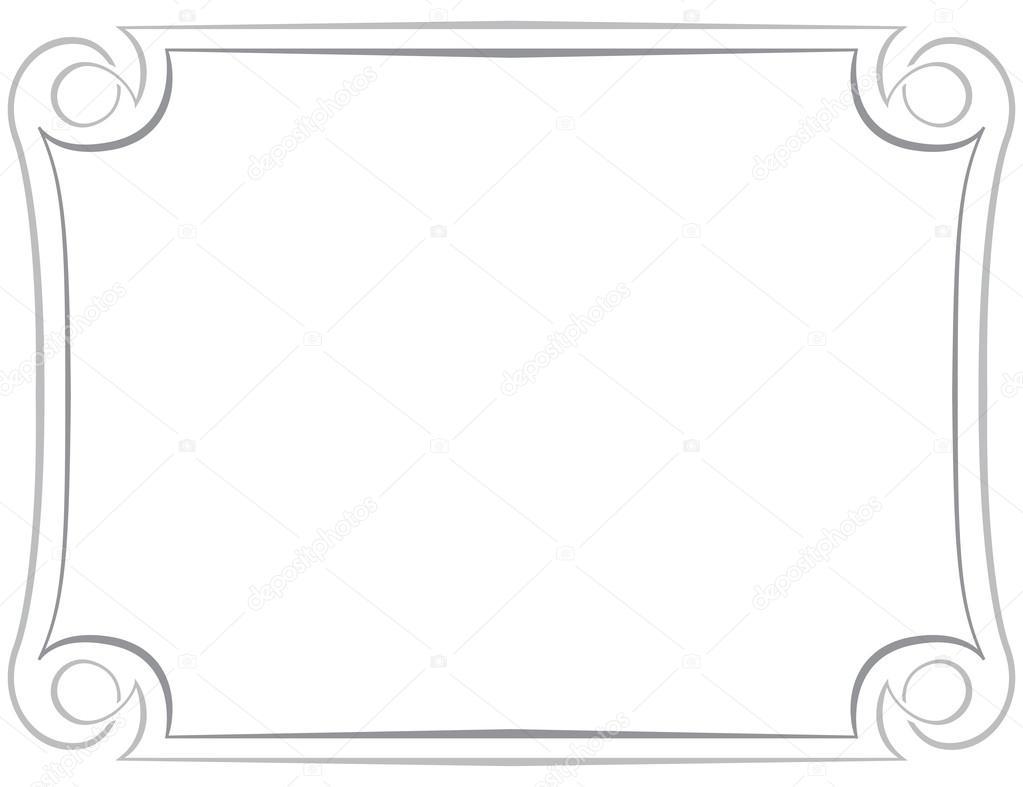 marco de vector sobre fondo blanco — Vector de stock © pzRomashka ...