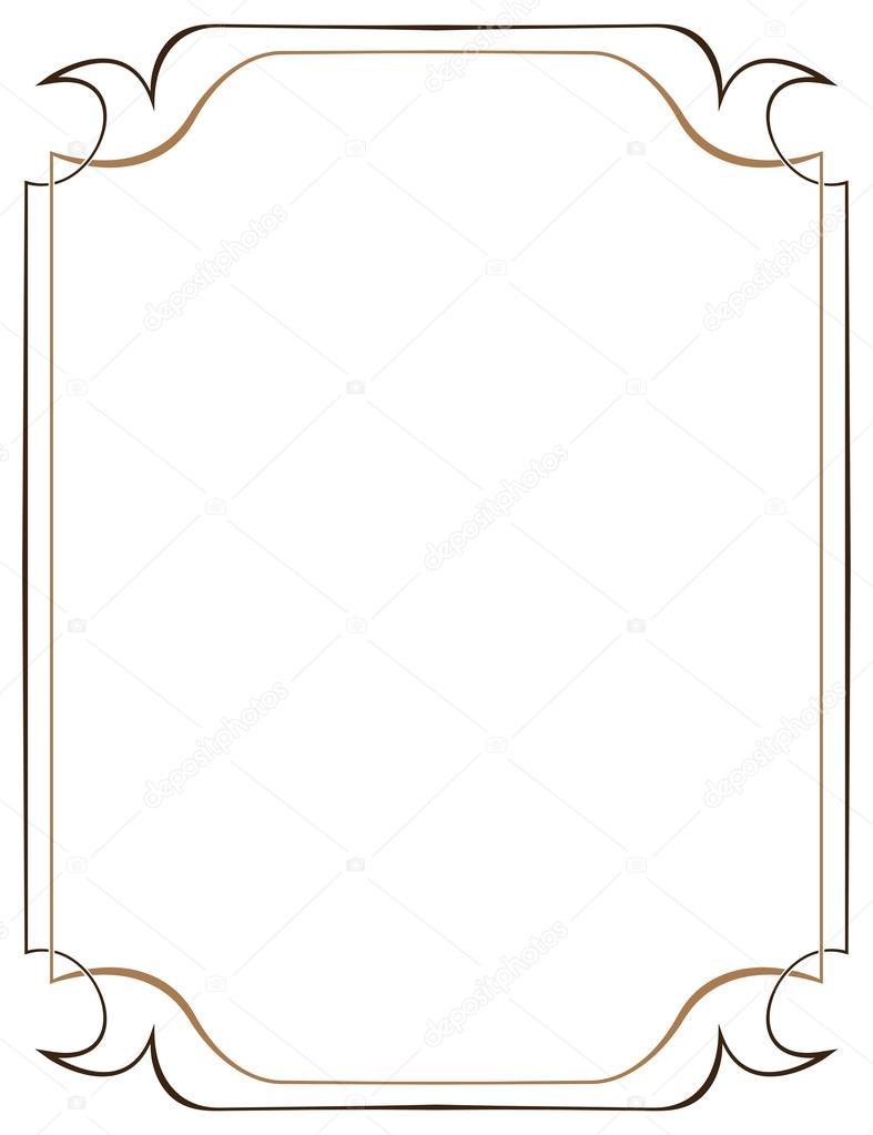 marco vectorial marrón sobre un fondo blanco — Vector de stock ...