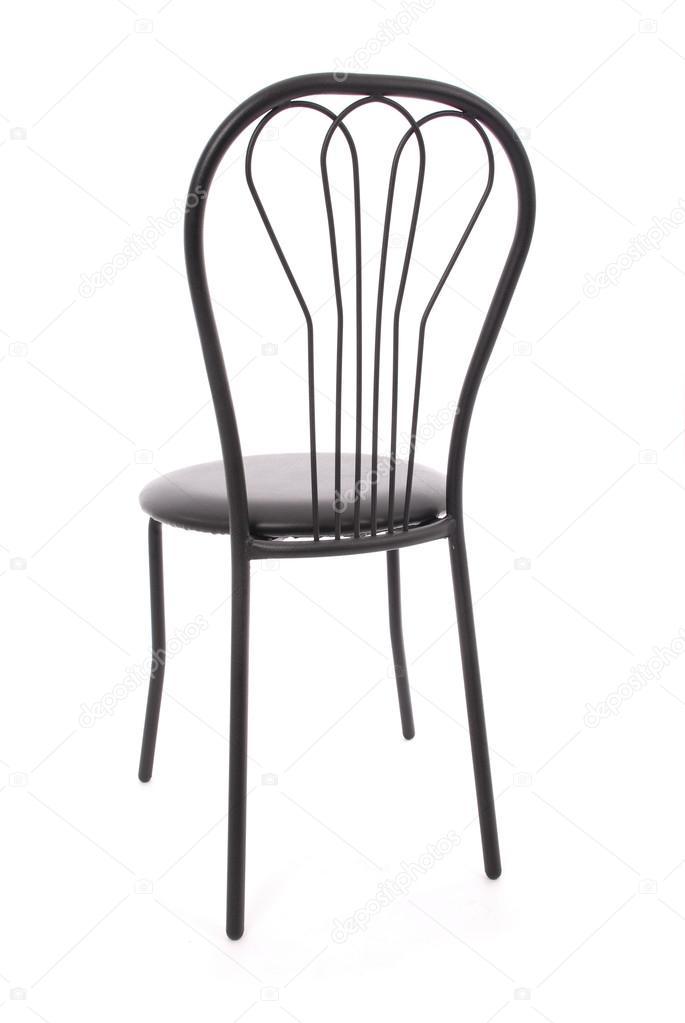 Czarne Krzesło Metalowe Zdjęcie Stockowe Akova777 117924338