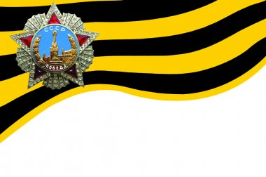 The flag . St. George Ribbon