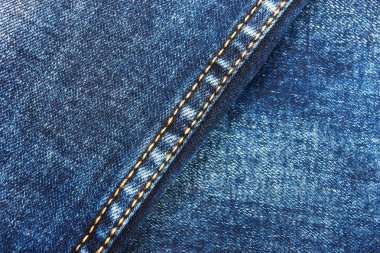 Jeans background with double thread's
