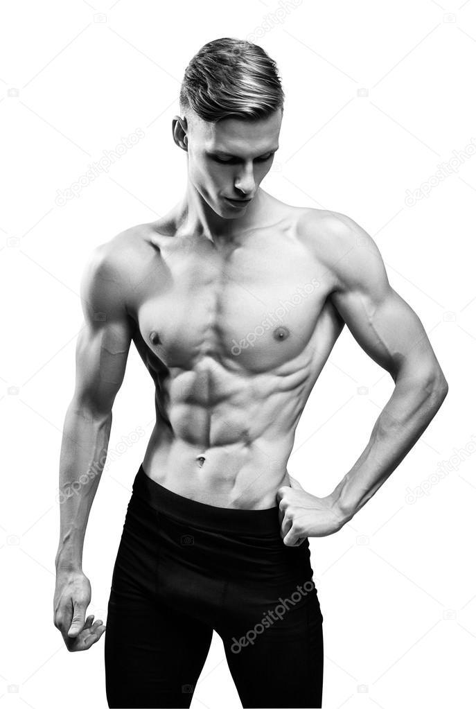 Mann mit muskulösen Oberkörper — Stockfoto © restyler #85707254