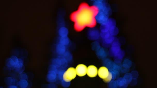 Abstract circular bokeh background of Christmas tree light