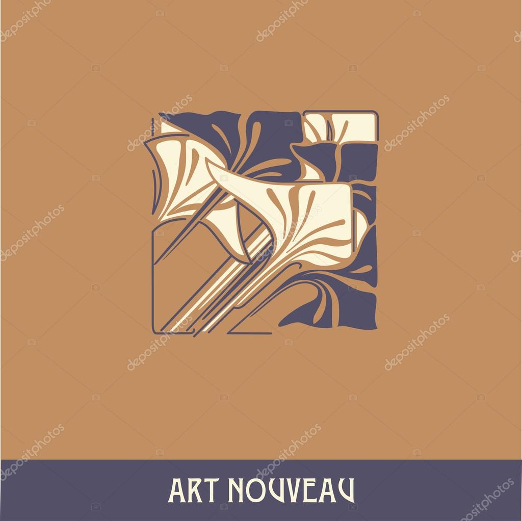 Design element in art nouveau style