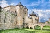 Chateau Comtal a Carcassonne, Francia