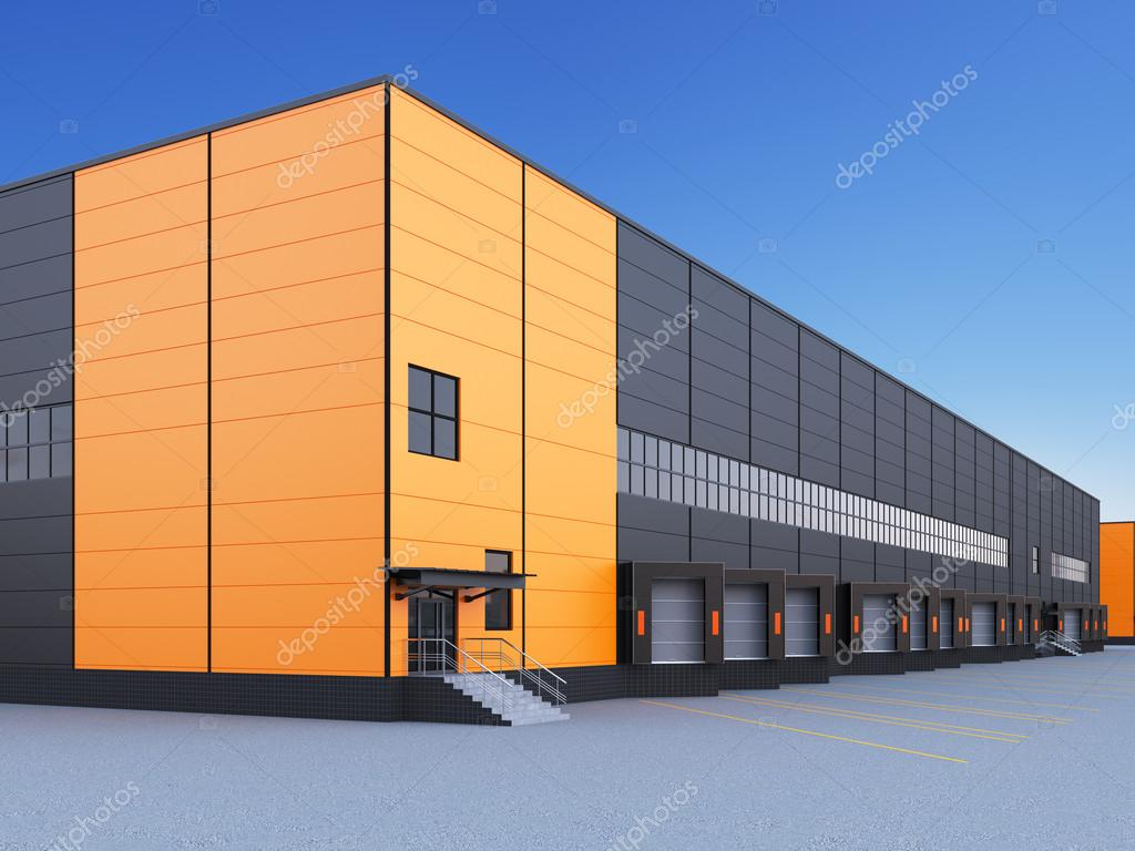 Exterior Of A Commercial Warehouse Stock Photo Plukhin 103932312