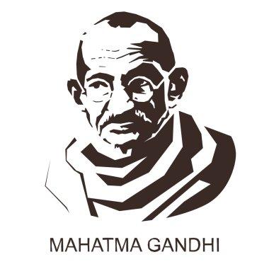 silhouette Mahatma Gandhi