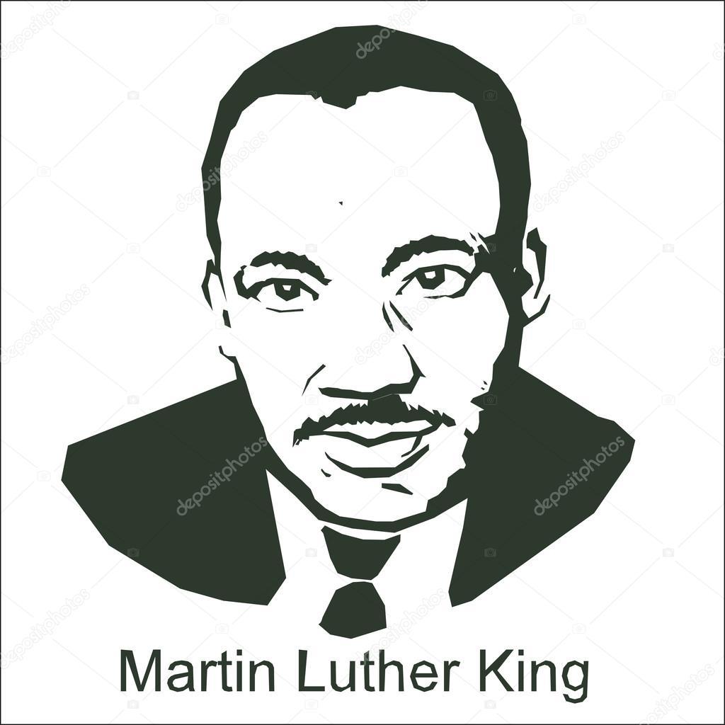 Martin Luther King Stock Vector C Shestakovv 90171584