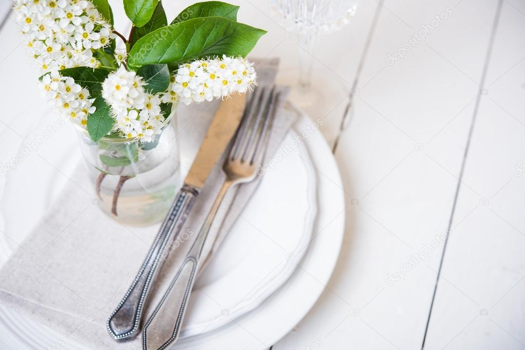 Snow White Wedding Table Decor Stock Photo C Manera 107505138