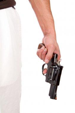 Violent Man Holding Gun