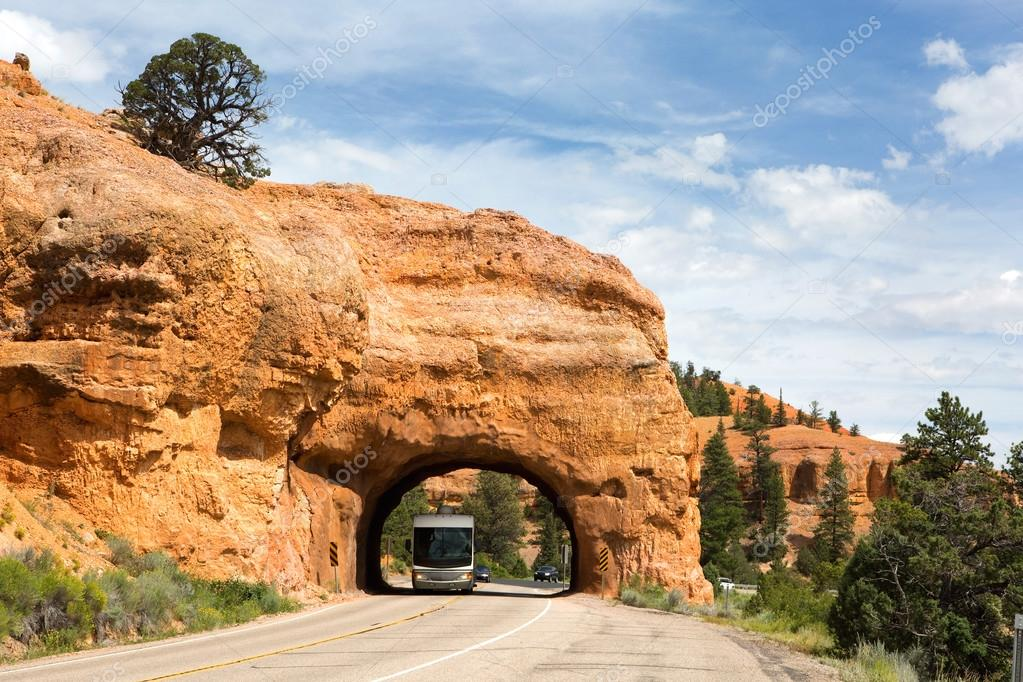 RV Red Canyon Tunnel Utah