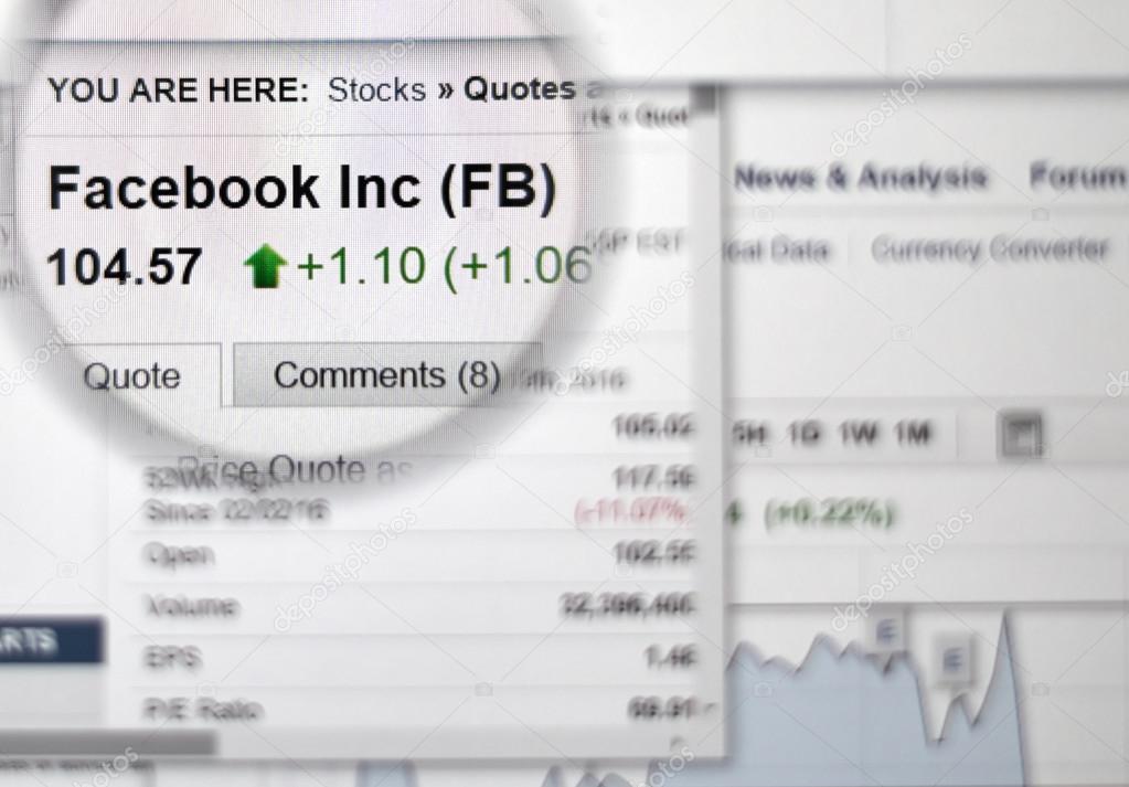 Facebook Stock Quotes Delectable Fb  Facebook Stock Stock Editorial Photo © Dennizn 100643866